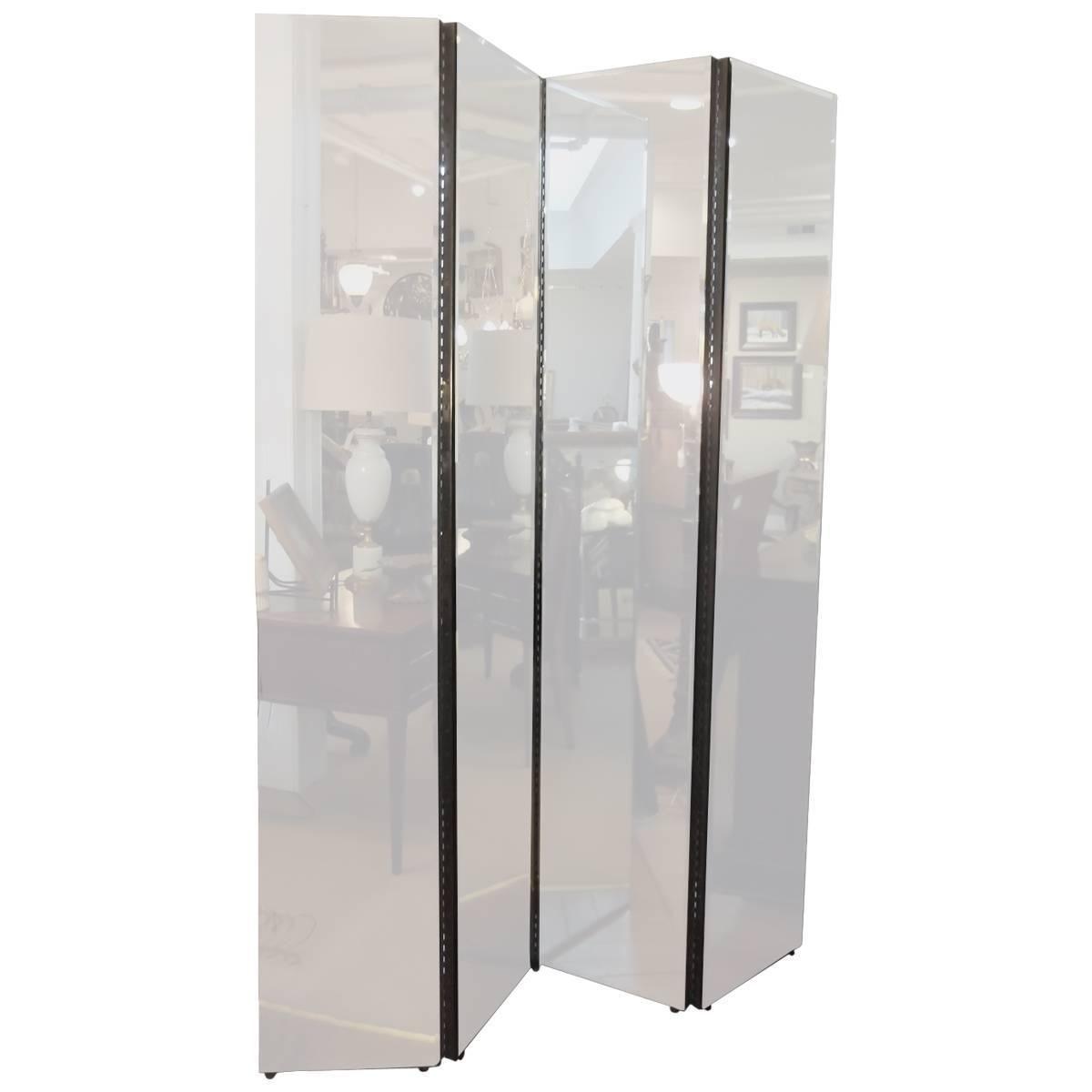 Beveled Mirror Four Panel Screen Divider Pinterest Divider