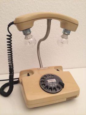Altes Telefon Lampe Licht Tischlampe Retro Stehlampe Design Diy In