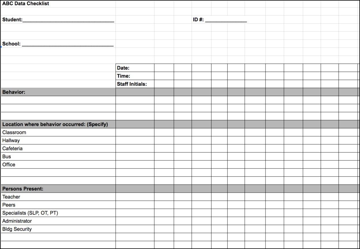 IEP Forms | Time Management | Pinterest