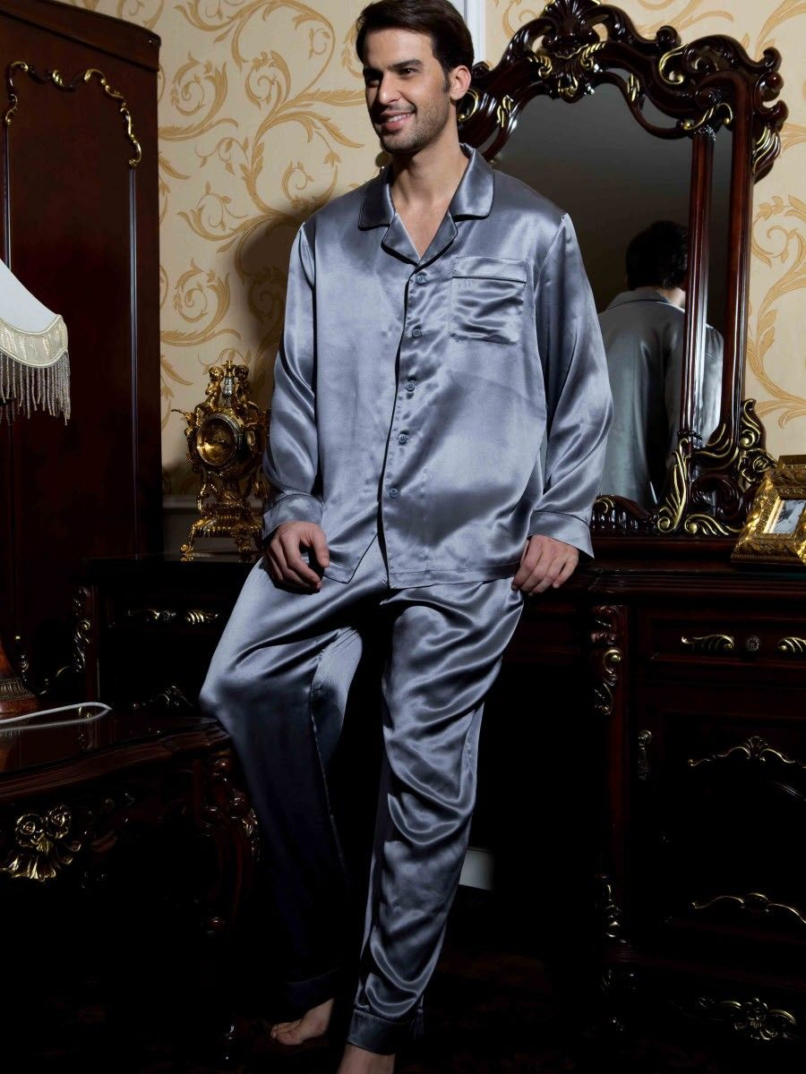 Classical Silk Pajama Set For Men  fcb6876f2
