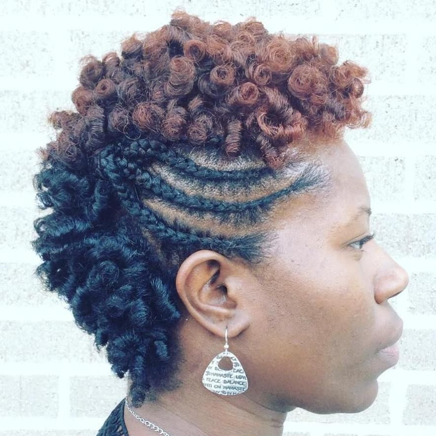 Natural Hairstyles For African American Women 75 Most Inspiring Natural Hairstyles For Short Hair  Braided Mohawk