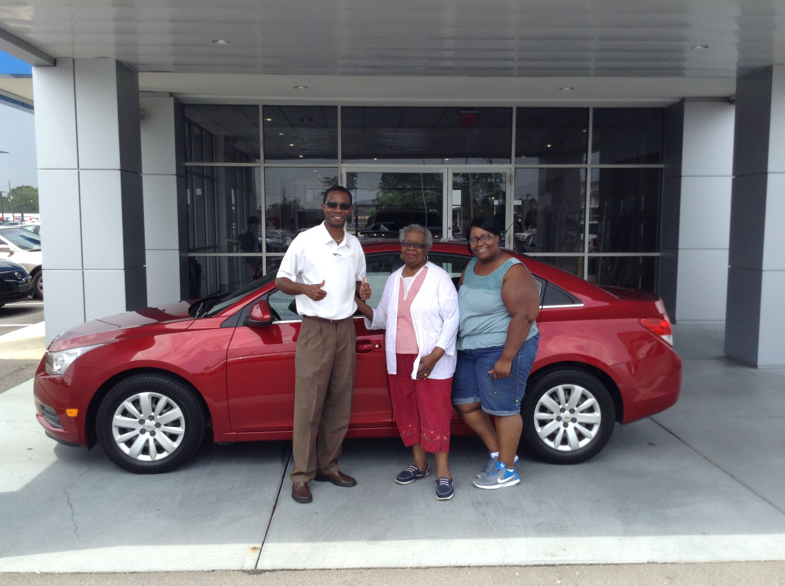 """We would like to thank Jacqueline Jackson and her daughter, Melody, for their purchase of this nice red 2011 Chevrolet Cruze, one of our GM Certified vehicles. Melody will be """"cruisin'"""" in her Cruze back to Little Rock, where she lives. Jacqueline lives here locally. You can explore the benefits of purchasing a GM Certified vehicle by visiting our dealership or the following link online: http://www.bigochevycadillac.com/CertifiedVehicles"""