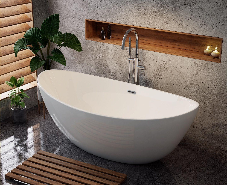 Owalna Wanna Wolnostojaca Scandibath Alta Z Przelewem Scandibath Mojemieszkanie Wanna Frestanding Wol Bathroom Design Decor Bathroom Design House Design