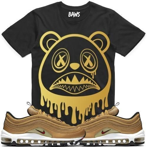 BAWS DRIP Sneaker Tees Shirt - Air Max 97 Metallic Gold  cf926e244