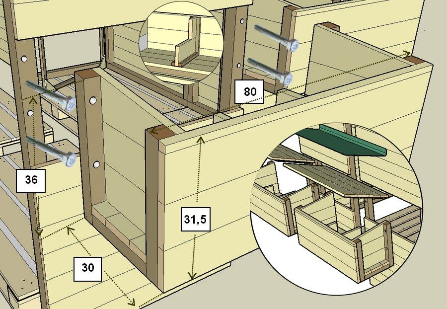 Construction D Un Poulailler En Palettes Modulable Plan Poulailler Palette Plan Poulailler Construction D Un Poulailler