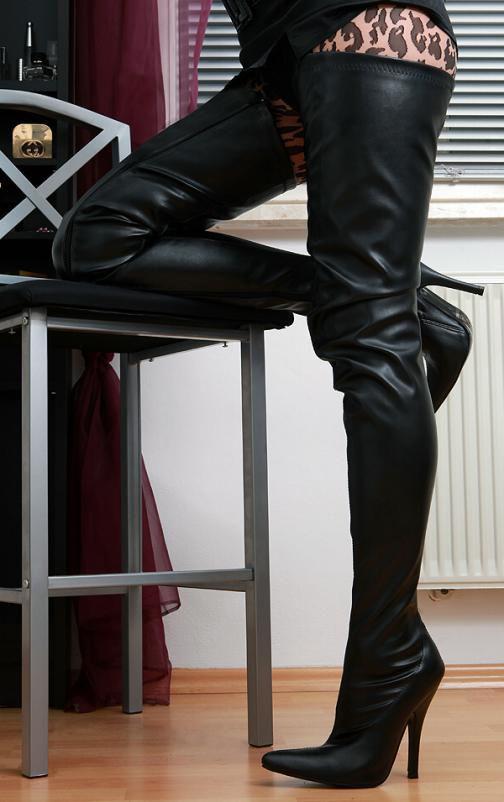 Crotch Overknee Stiefel Boots Schwarz 36 46 Neu 3623 High