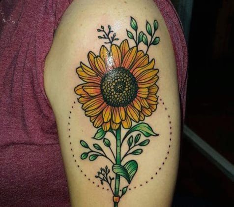 Photo of 29 Pictures Of Sunflower Tattoos