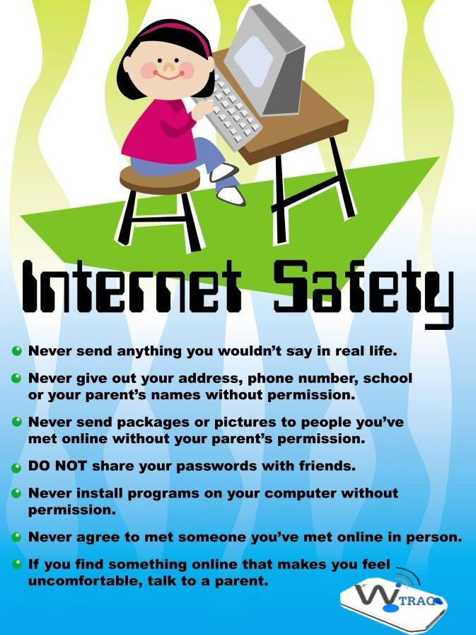 Kids Rules For Onlinesafety Http Www Wetraq Ca Internet Safety Internet Safety For Kids Digital Safety