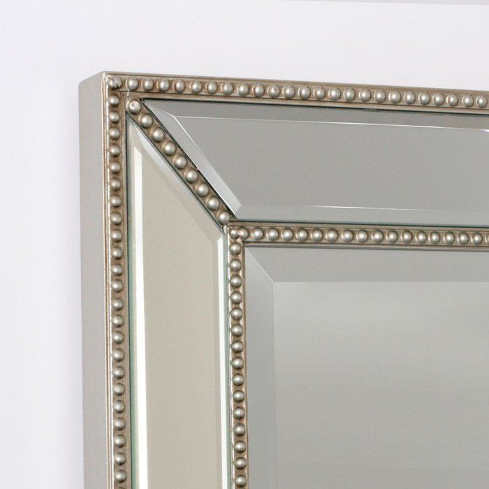 Beveled Beaded Accent Wall Mirror | Bath decor, Traditional and Bath