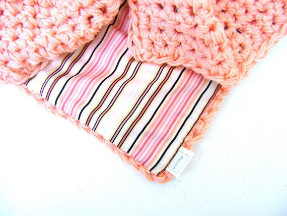 Crocheted Reversible Baby Blanket ON SALE 68 by sheilalikestoknit,