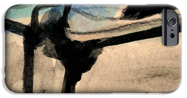 IPhone Case featuring the painting Abstract-22 by Katerina Stamatelos