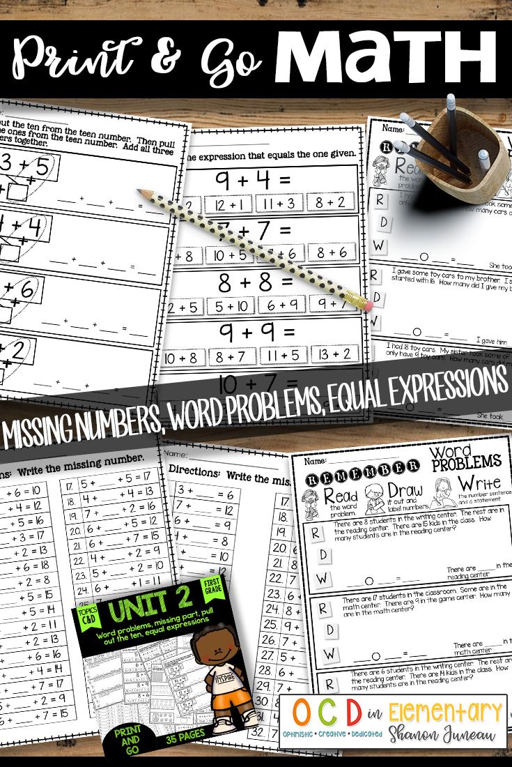 Math Worksheets 1st Grade Missing Parts Equal Expressions First Grade Math Worksheets Math First Grade Math [ 1100 x 735 Pixel ]