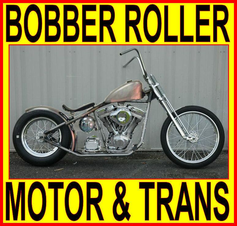 "Details About 100"" MOTOR & TRANSMISSION RIGID BOBBER"