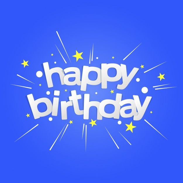 Happy birthday background design Free Vector