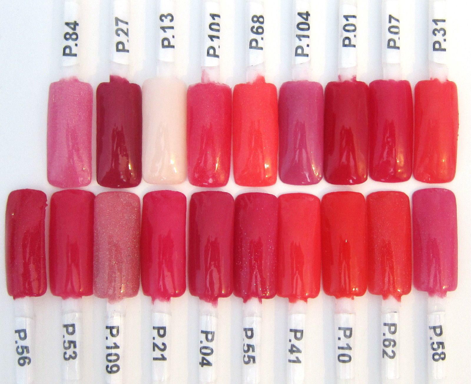 EZ Dip color chart: Fuchsias | Dip Nails Color Swatches | Pinterest ...