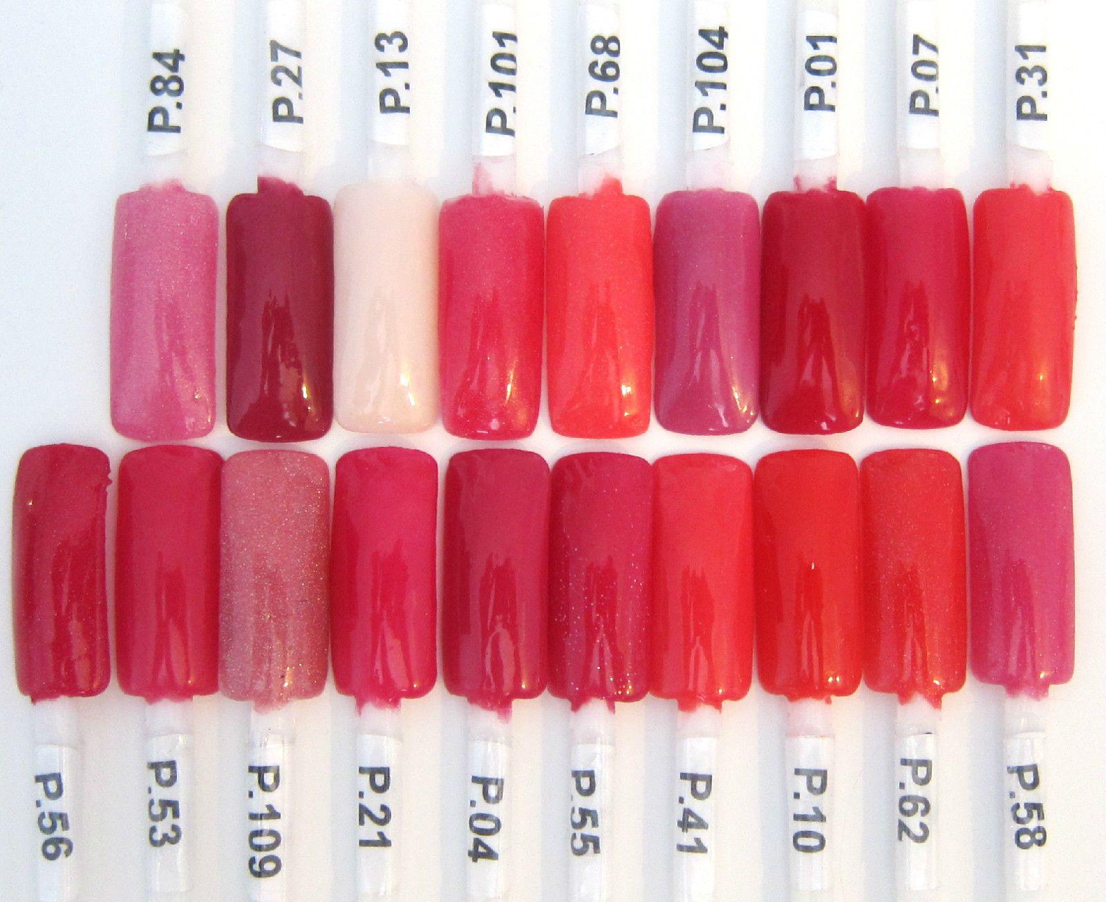 EZ Dip color chart: Fuchsias   Dip Nails Color Swatches   Pinterest ...
