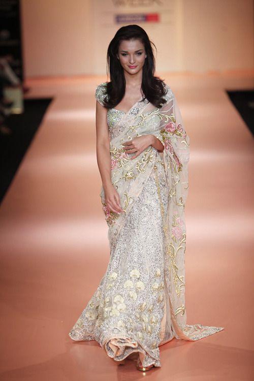 Saree  Outfit white desi sari wedding   A Very Desi