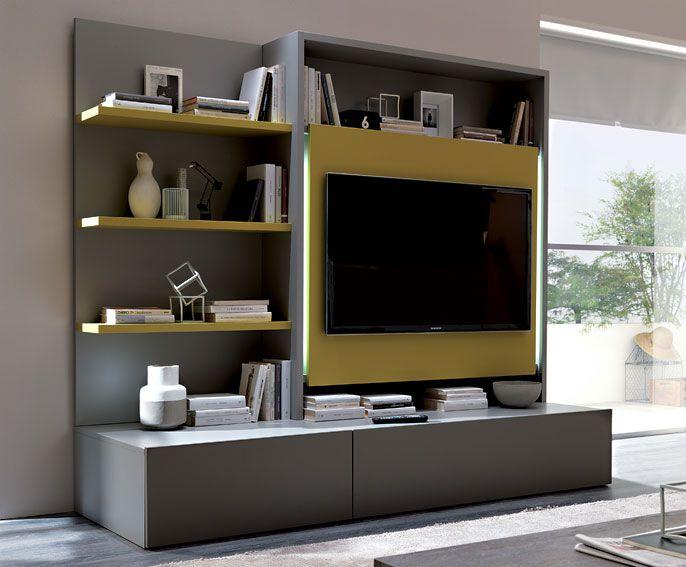 Mueble tv Moderno Smart Material: DM Densidad Media Mueble tv mate y ...