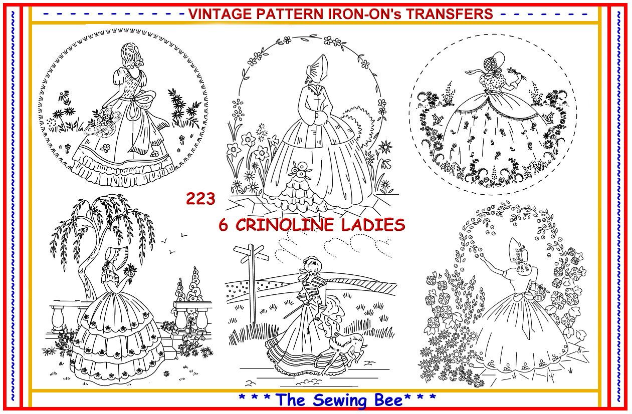 223 6 new crinoline lady ladies embroidery iron on transfers 223 6 new crinoline lady ladies embroidery iron on transfers patterns bankloansurffo Gallery