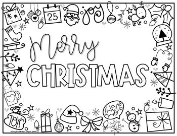 Holiday Coloring Placemats Coloring Placemats Kids Christmas Ornaments Christmas Lettering