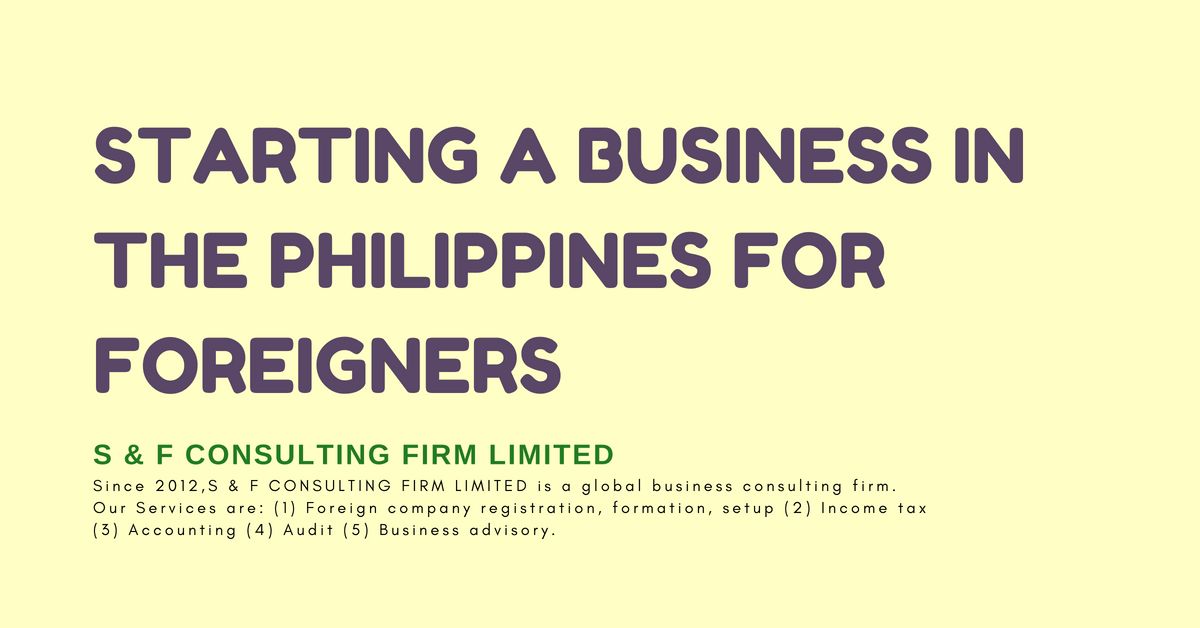 Starting a business in the Philippines for foreigners