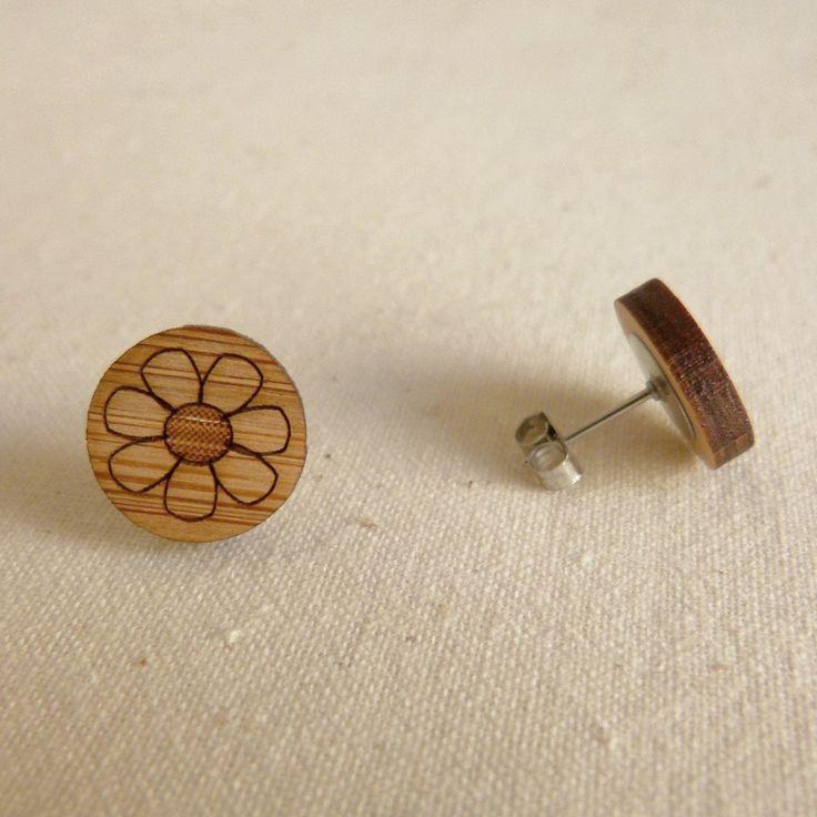 Bee Jewellery Laser Cut Wooden Studs Made In Australia