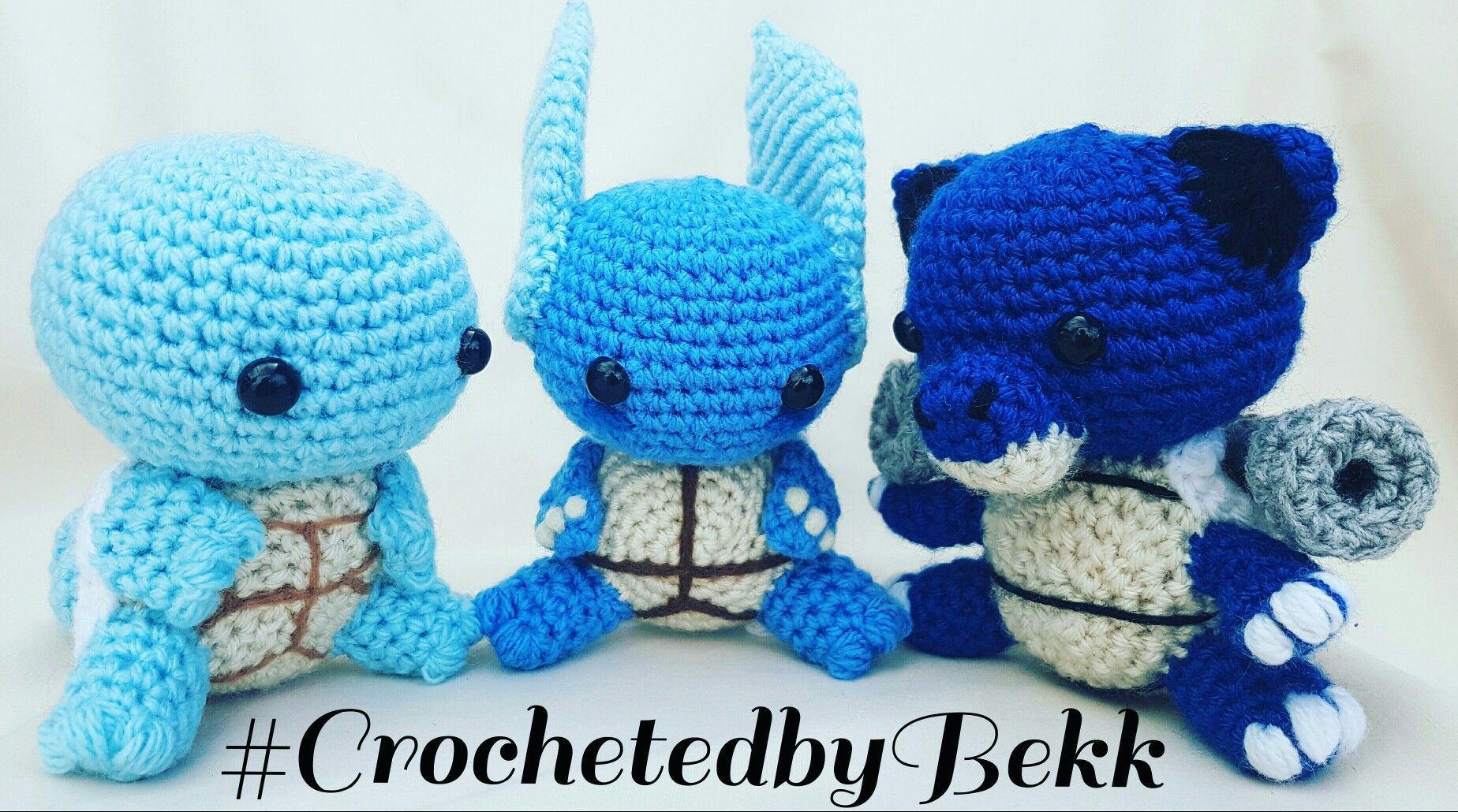 Squirtle Evelution Line up! #Blastoise #CrochetedbyBekk #Pokemon ...