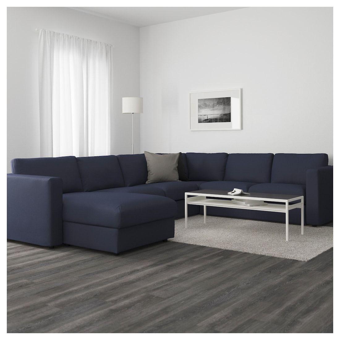 Vimle Sectional 5 Seat Corner With Chaise Orrsta Black Blue Meubles De Salon Modernes Mobilier De Salon Canape Angle