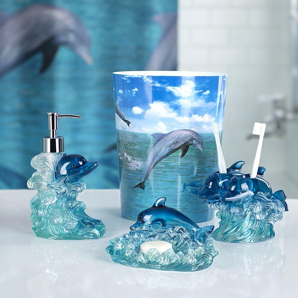 Dolphin Bathroom Accessory Set One