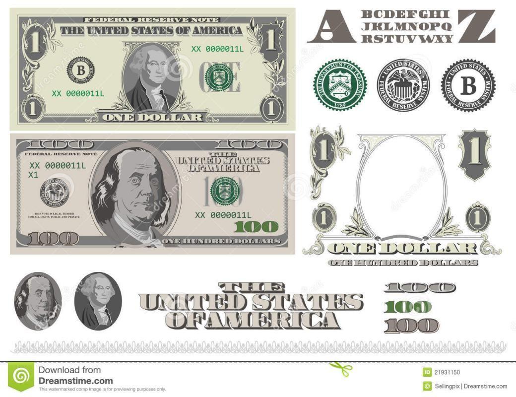 Editable Play Money Template Money Template Play Money Template