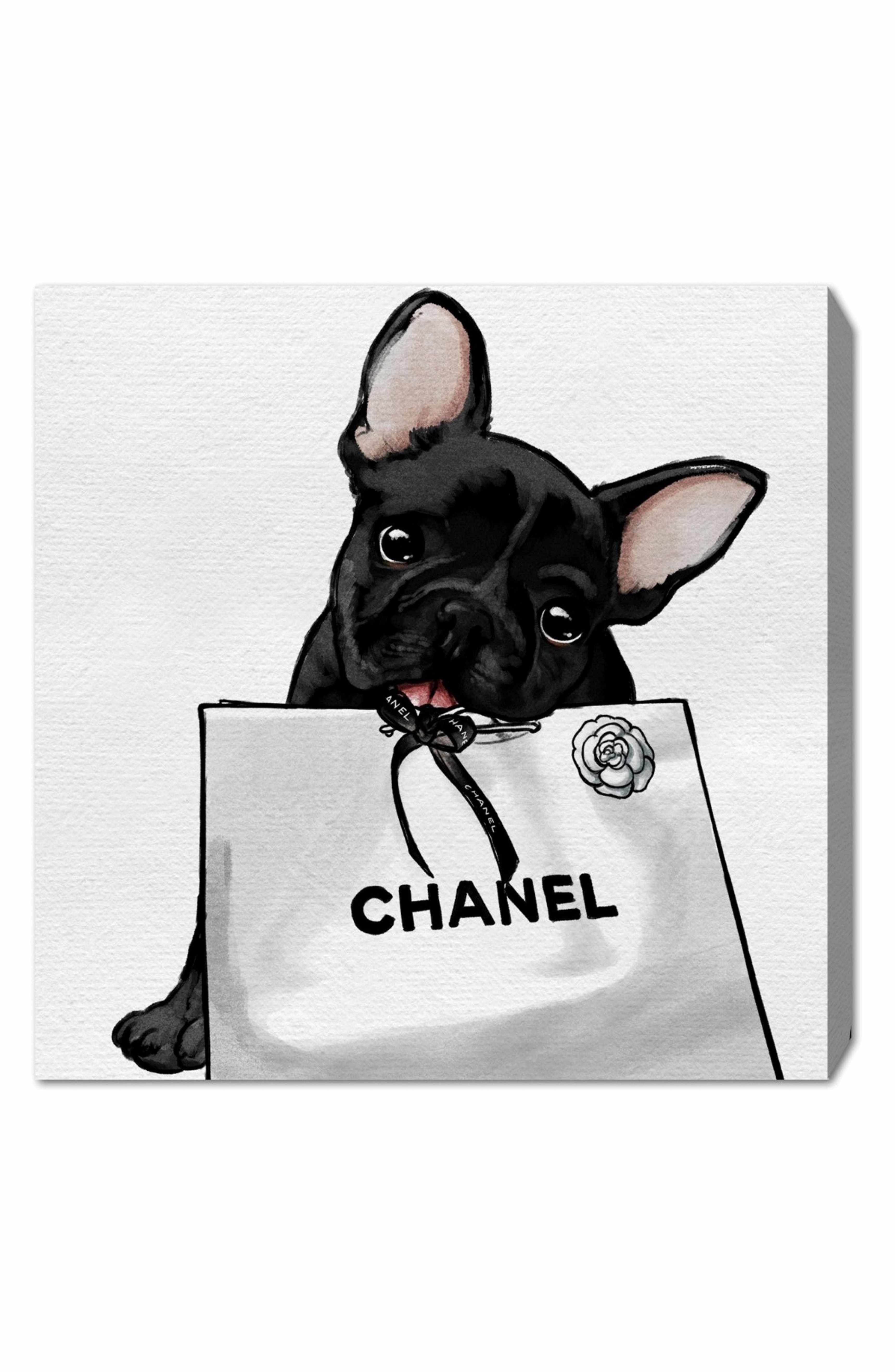 Oliver Gal Frenchie Glam Canvas Wall Art French Bulldog Art