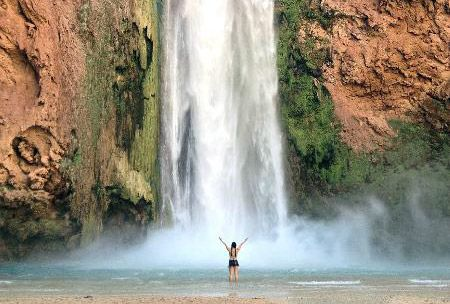 """Havasu Falls, Arizona, United States  """"Hidden paradise in the canyons... One of the prettiest falls... ice cold turquoise blue water..."""" #tripadvisor"""