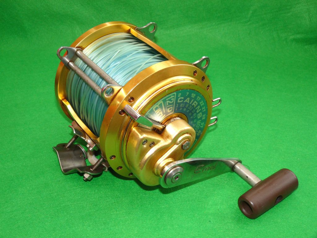 Everol 12/0 Carins Model gold big game sea fishing reel by