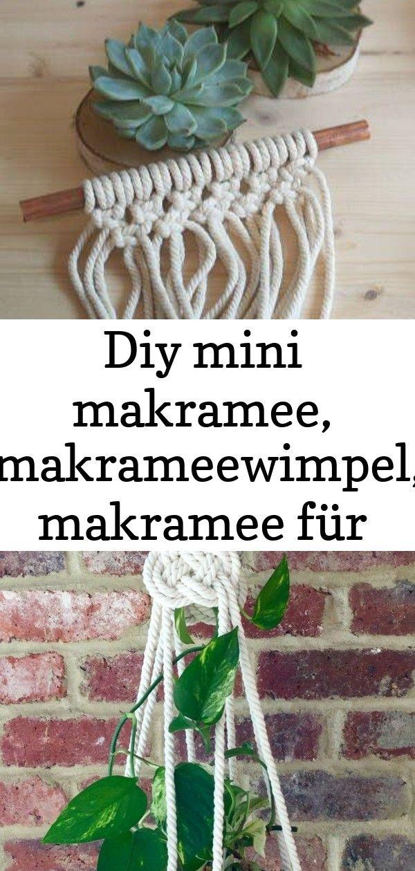 Diy mini makramee, makrameewimpel, makramee für anfänger ...
