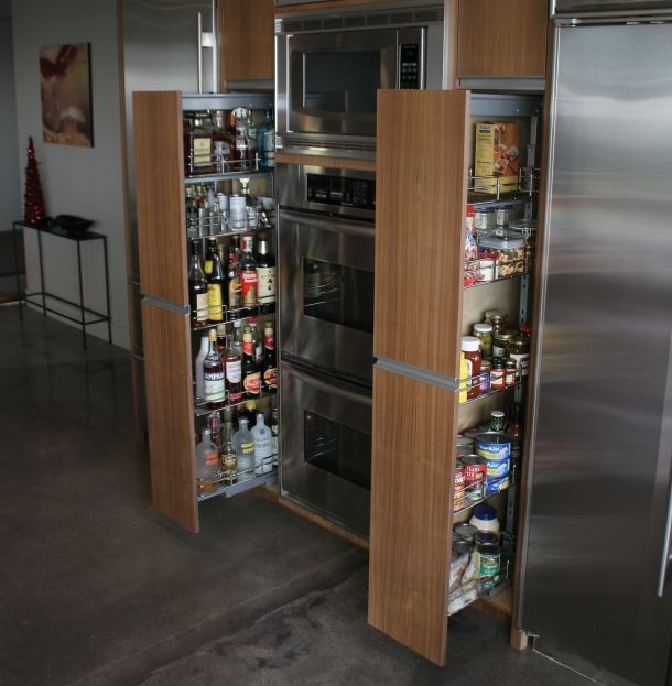 Elegant Creative Nice Wonderful Cool Amazing Nice Adorable Pull Out Pantry With  Double Pantry Design Concept Made