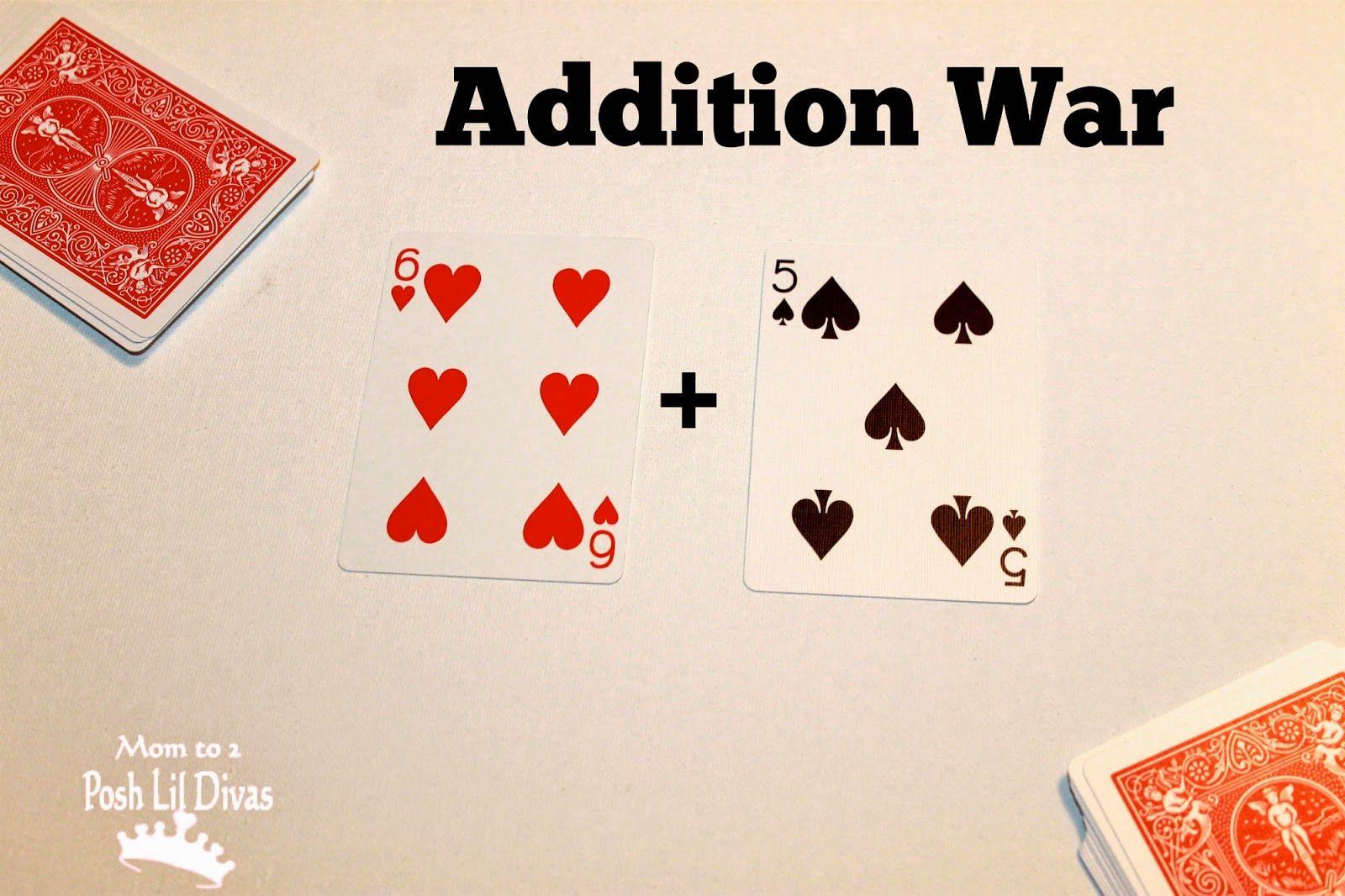 Math War 6 Math Card Games For Kids
