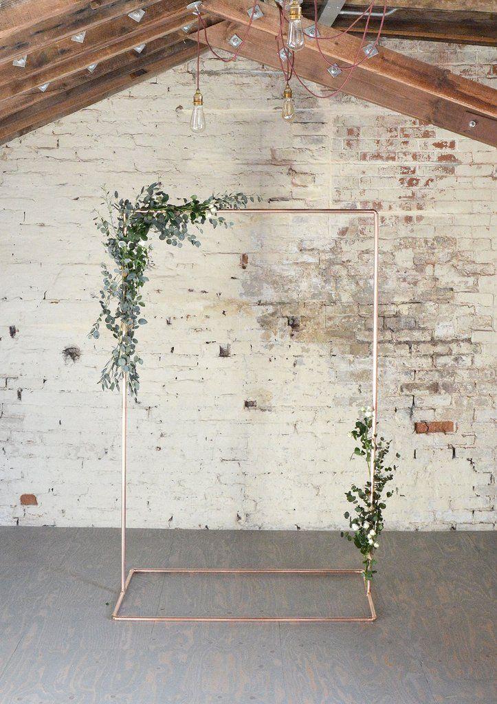 Copper Wedding Backdrop Frame for Flowers u0026
