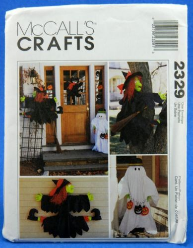 McCall\u0027s 2329 Halloween Decorations, UNCUT Crafts Sewing Pattern - patterns for halloween decorations