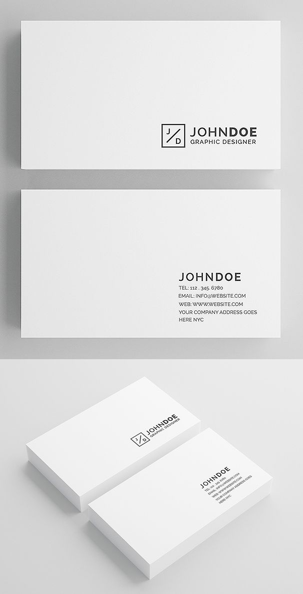 Minimal White Modern Business Card Graphic Web Design
