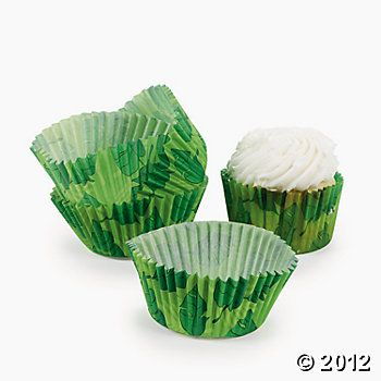 Foil Leaves Cake Decorating : Leaf Print Baking Cups, Cake Decorating Supplies, Party ...