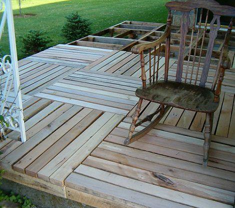 Como poner suelos de palets shop pinterest palets for Poner suelo terraza exterior