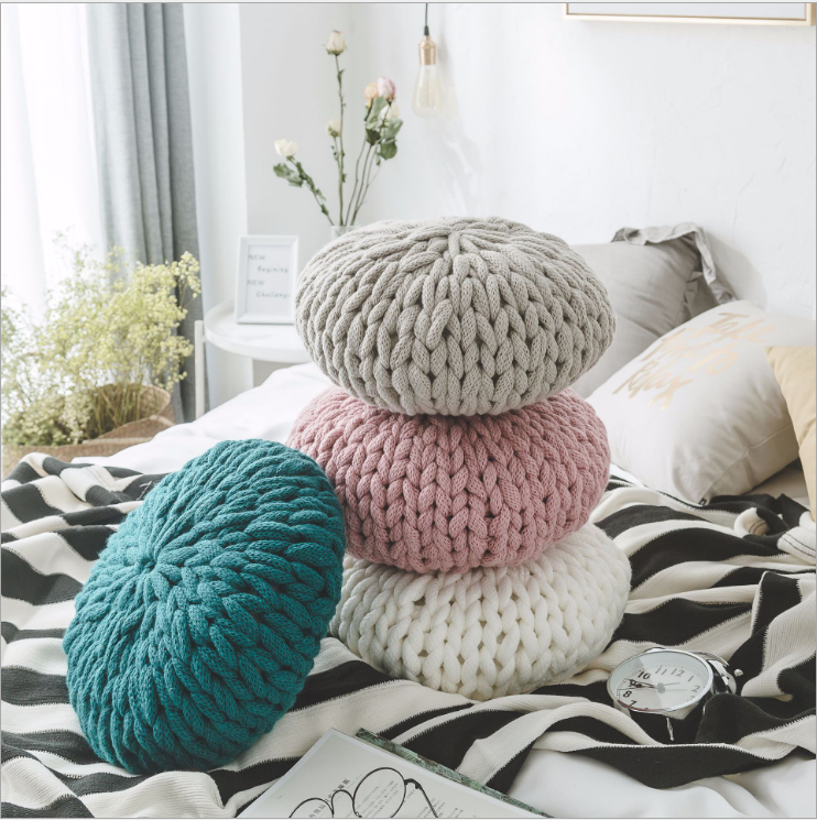 Nordic style pure hand-woven pillows sofa pillows creatively home decoration