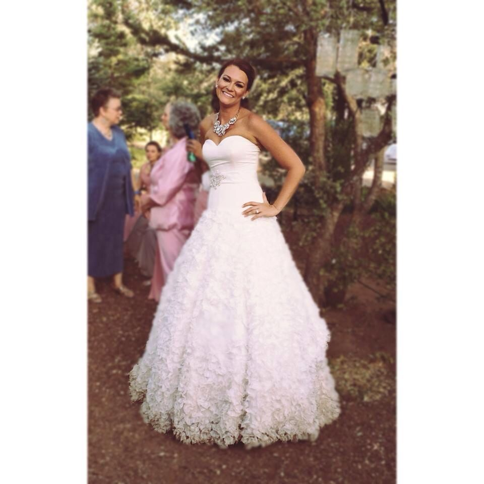 Wedding Dress. Drop Waist, Sweat Heart Neckline, Strapless