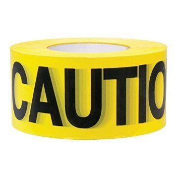 Premium Yellow Caution Tape  3 inch x 1000 feet  Bright Yellow w Bold Black Text