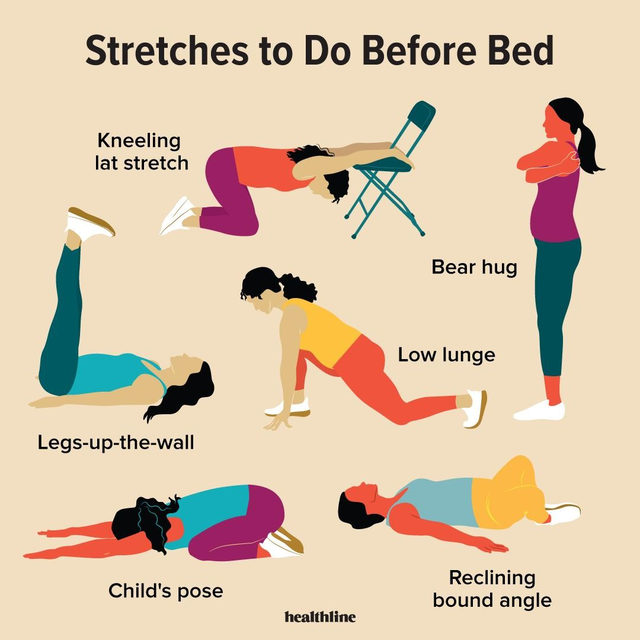 Stretching Before Bed 8 Stretches to Do at Night Before