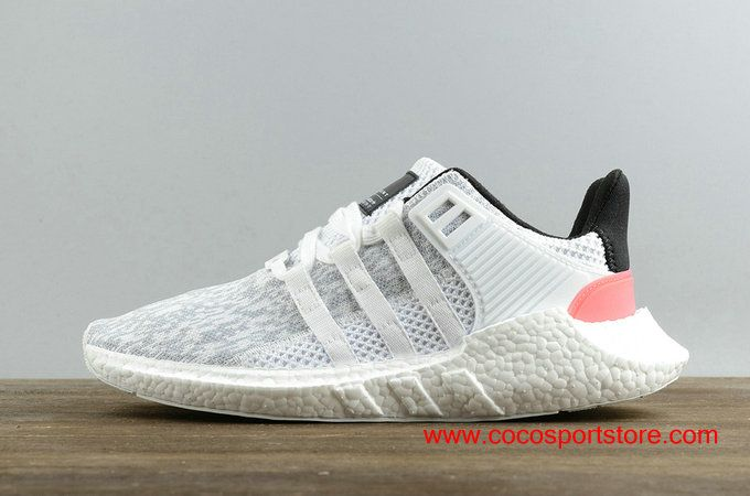 best sneakers 7a5f6 f0b33 $90 Women's Adidas EQT SUPPORT 93/17 White Black Pink BB7374 ...