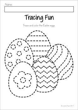 easter egg coloring pages preschool   Easter Preschool No Prep Worksheets & Activities   Easter ...