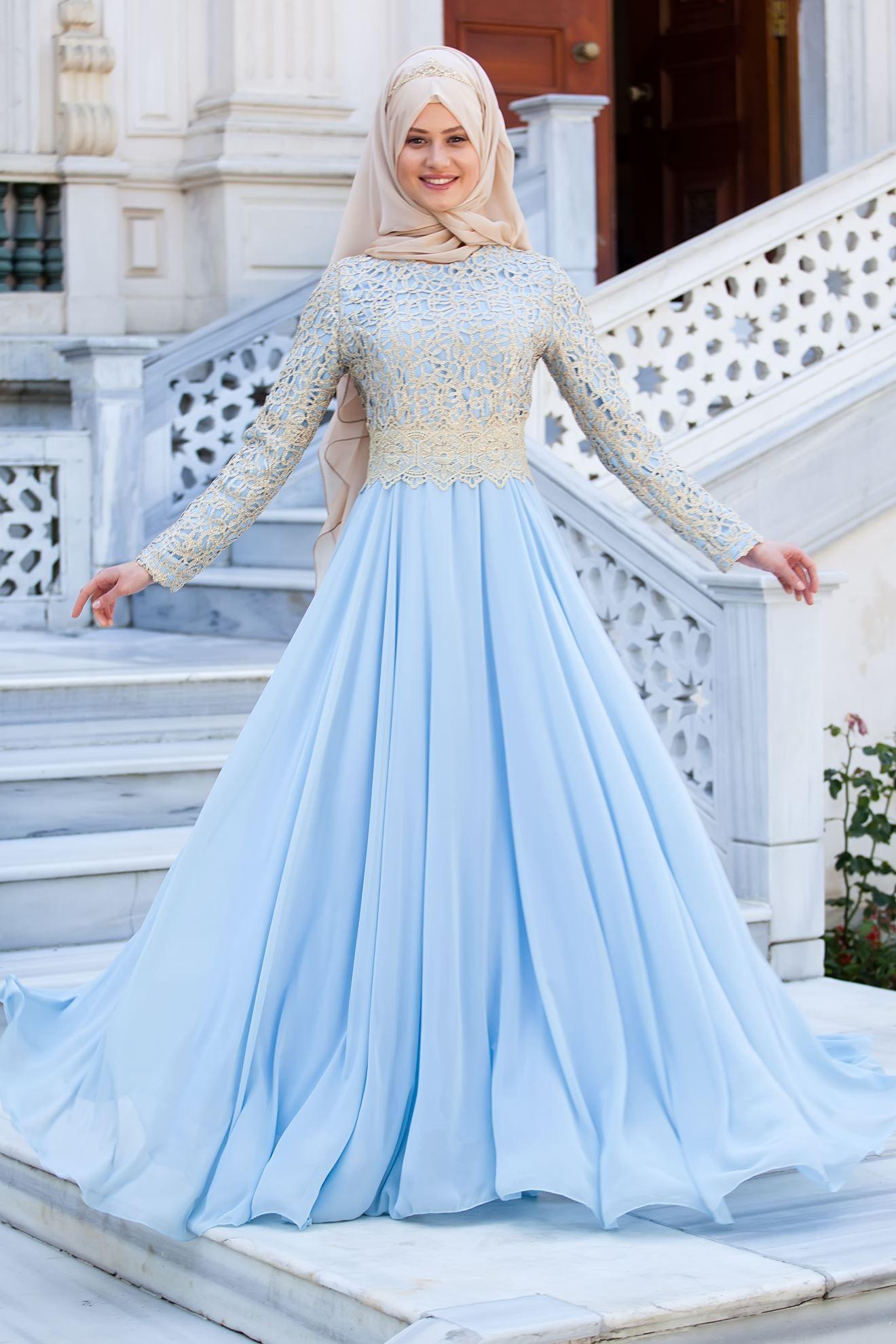 a8aa018bf4b6f Pin by Sedanur Tesettür on Tesettür Abiye Modelleri in 2019 | Elbiseler, Elbise  modelleri, Mavi abiye