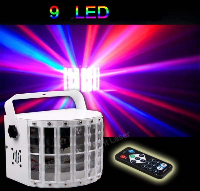 51.51$  Buy here - http://aliaxm.worldwells.pw/go.php?t=32653115084 - Remote Control 9 Colors Led Stage Lamp 30W 14 Modes DMX512 KTV Laser Bar Lights Sound Control Music Control Flicker Stage Lamp