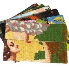 La nana, pochette trousse en canevas & tapisserie vintage